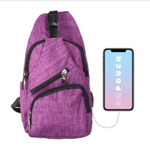 NuPouch anti-theft day pack pink