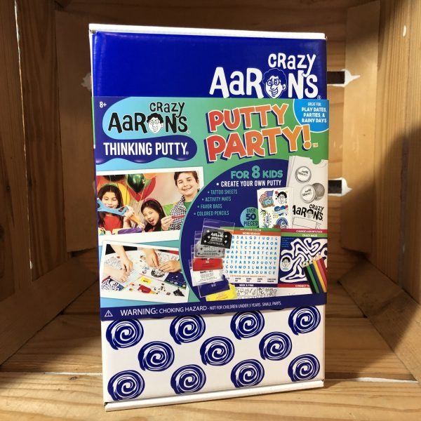 front of box of Crazy Aarons Putty Party kit