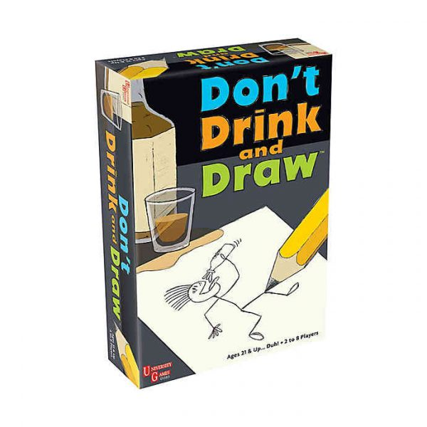 front of don't drink & draw box