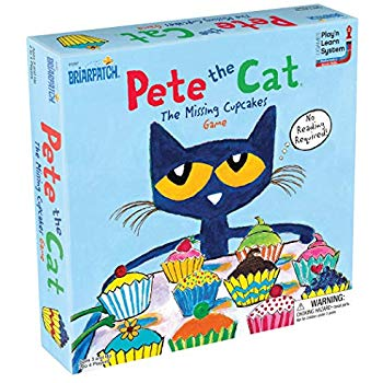 front of box of pete the cat missing cupcakes