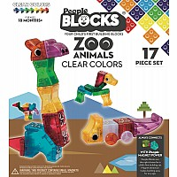front of box of people blocks zoo animals