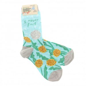 I never fart womens crew socks