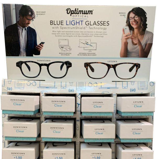 Display blue light glasses