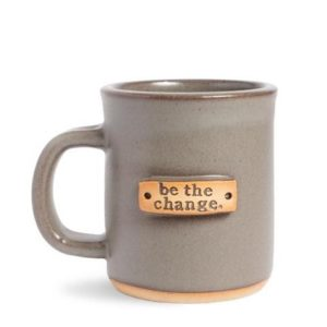 Be the Change Mug MudLOVE gray