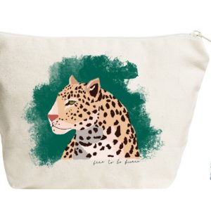 Free to be Fierce pouch