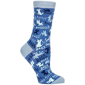 Dogs! Blue Q womens socks
